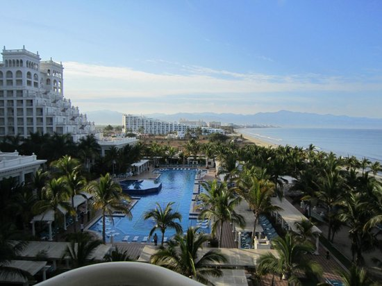 Bel Air Collection Resort & Spa Vallarta: View from BelAir toward Puerta Vallarta and Riu Palace, next hotel