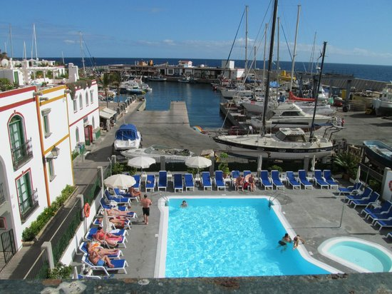View Of Pool From Jaccuzzi 39 S Picture Of Marina Apartments Mogan Tripadvisor