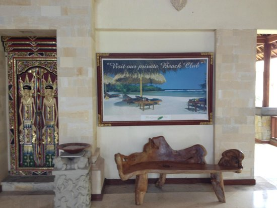 Benoa, Indonesia: Lobby poster of the beach club