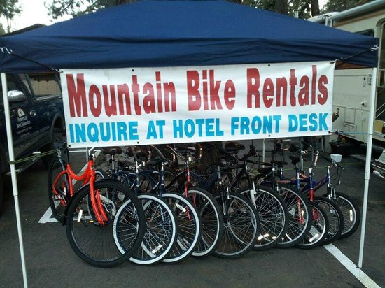 Americas Best Value Inn - Casino Center Lake Tahoe: Hotel Bicycle Rental Kiosk