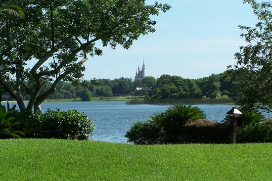 Disney's Polynesian Resort: View of castle