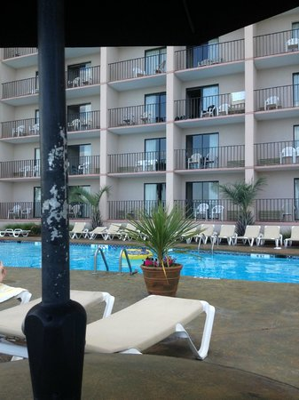 Sandcastle Oceanfront Resort at the Pavilion: hotel vue piscine