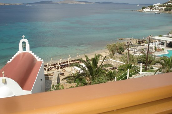 Mykonos Grand Hotel & Resort: view from our room