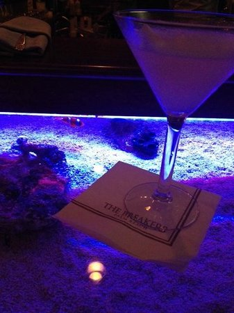 The Breakers: The Seafood Bar- the bar is actually an aquarium!