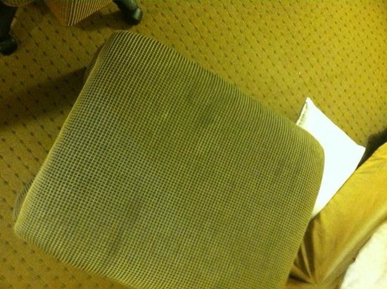 DoubleTree by Hilton Hotel LAX - El Segundo: Soiled and stained foot stool. Yuck!