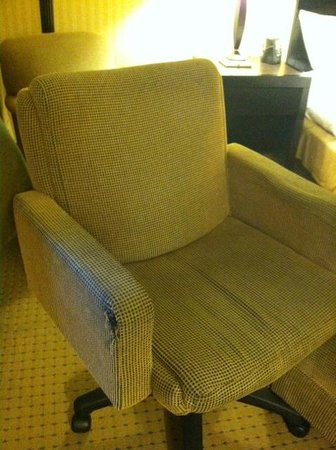 DoubleTree by Hilton Hotel LAX - El Segundo: torn stained and soiled arm chair, gross!!!