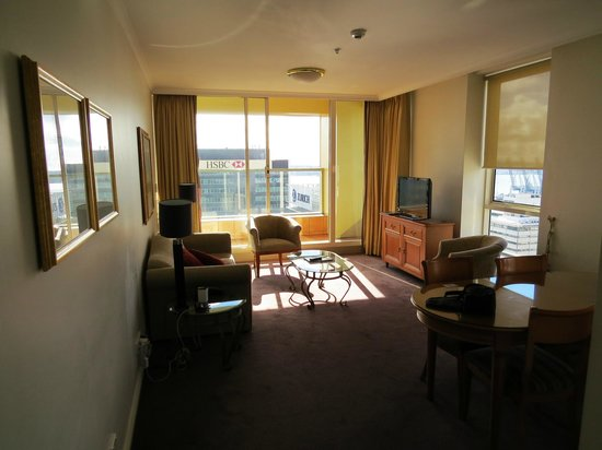 The Sebel Quay West Auckland: Room 2207, lounge area.
