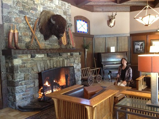 Deer Lodge: By the fire!