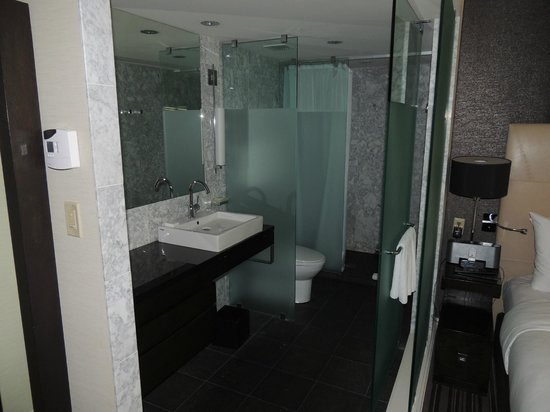 The Dupont Circle Hotel: Door to close off toilet/shower area