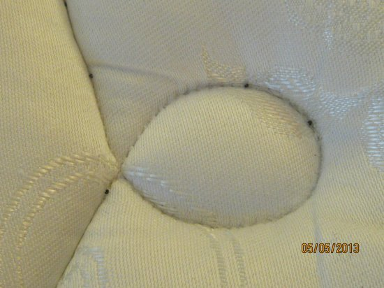 Hampton Inn Asheville - Tunnel Road: Hard black curly things found on mattress of one bed
