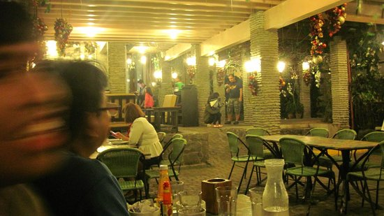 open area, parasol coffee shop - Picture of Tagaytay ... Josephine S Restaurant