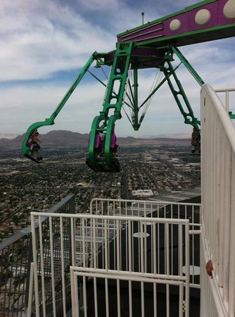 Stratosphere Hotel, Casino and Tower: One of the rollercoasters on top of the building