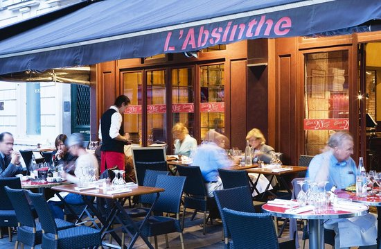 L 39 absinthe paris louvre palais royal restaurant - Cuisine et confidences place du marche saint honore ...