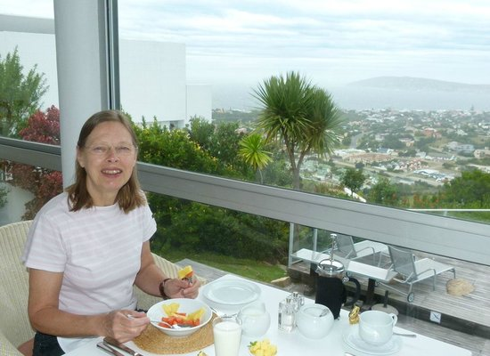 Bosavern Guest House: Fruit followed by cooked breakfast - with a view !