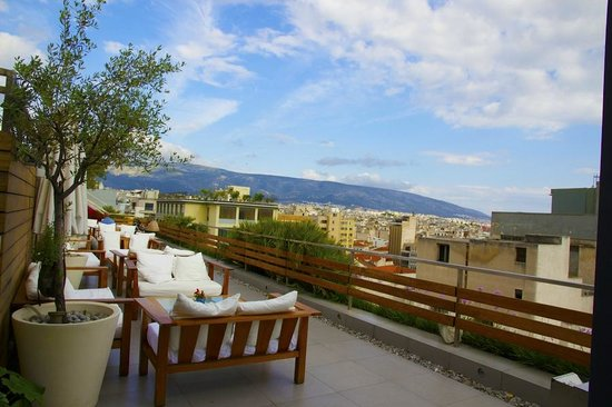 Fresh Hotel: Terrace at top floor