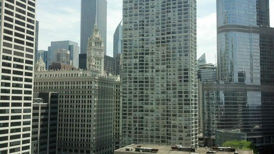 Homewood Suites by Hilton Chicago Downtown: View from 14th floor room, facing Grand Avenue
