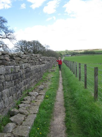 Heddon-on-the-Wall, UK: lots of wall to see