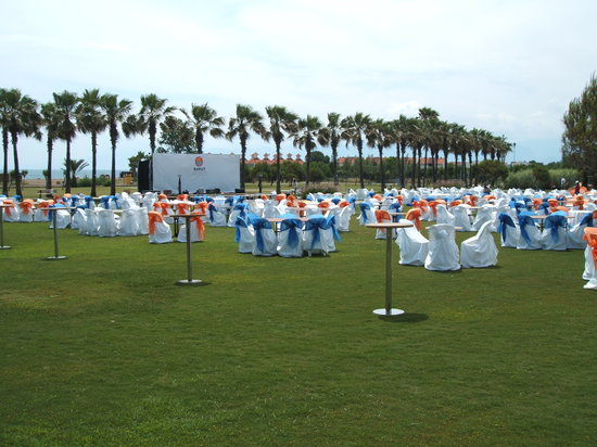 Barut Lara Resort Spa & Suites: Preparation for the Gala on 16th May