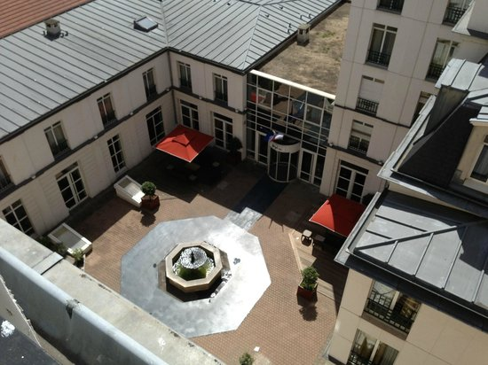 Lenox Montparnasse: View of courtyard from our room.