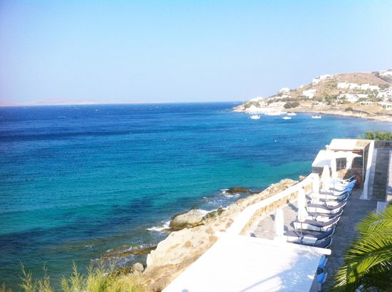 Mykonos Grand Hotel & Resort: View from pool... dreamy!