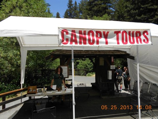 Occidental, CA: The sign up tent