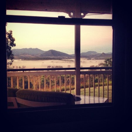 Boonah, Australia: View from the bed at sunrise