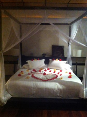 Lily Beach Resort & Spa: Water Villa- Bed