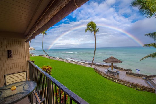 Kaleialoha Condominiums: View from condo - Rainbow - unit # 215