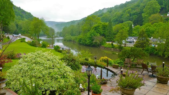 Symonds Yat, UK: View from front door on a damp day