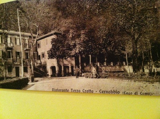Hotel Terzo Crotto: old photo on the wall in the lobby, this place has history