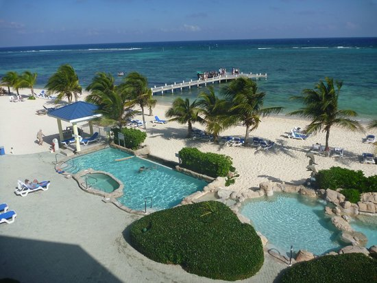 East End, Grand Cayman: Reef resort - beach, view from room