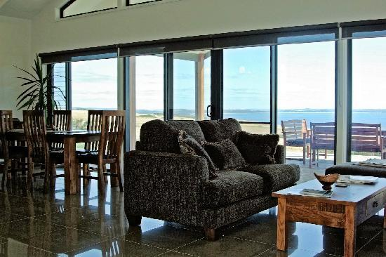 View of Eastern Cove from lounge, Blue Ray Lodge