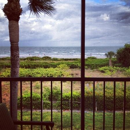Sanibel Inn: view from our beachfront room