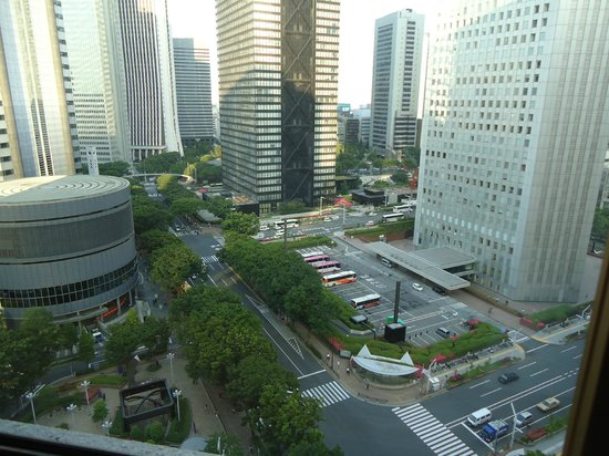 Hilton Tokyo: Always Excellent View of West Shinjuku. Facing Sumitomo bldg. next to the Tokyo Metro. Governmen