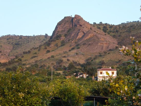 Álora, España: View East from the farmhouse.