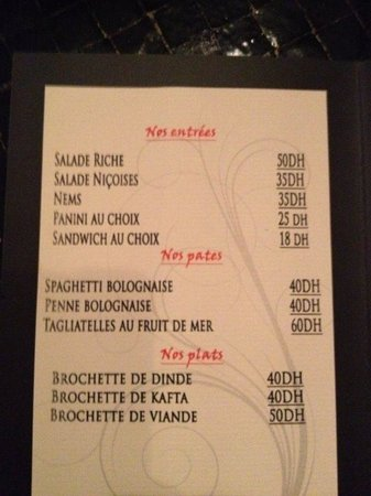 Art gallery restaurant menu picture of barcelona cafe for Artistic cuisine menu