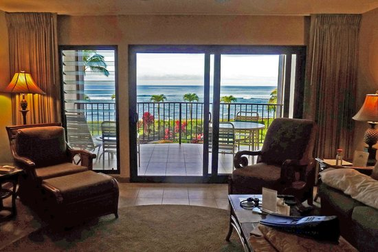 Lawai Beach Resort: View from the dining table in Unit 1307