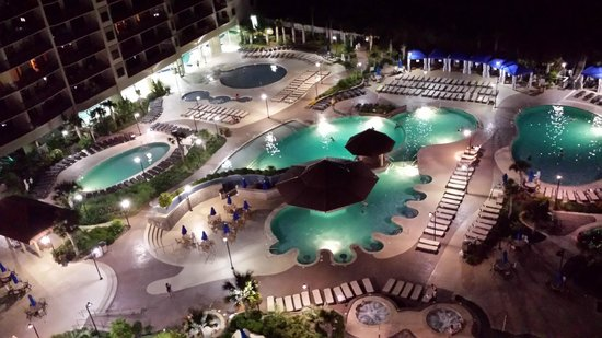 North Beach Plantation: Pool Deck Night View