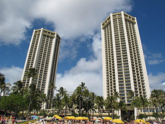 Hyatt Regency Waikiki Resort & Spa: ビーチから望む