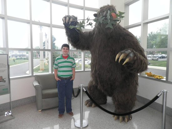 Martinsville, Wirginia: Grandson, Justin with Lobby display!