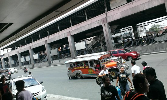 Main road near Shogun Suite Hotel, transport is available to SM Mall of Asia at 8 peso/pax.