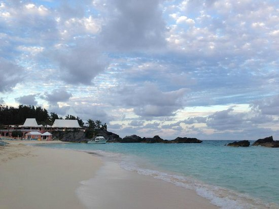 The Fairmont Southampton: Hotel's private beach