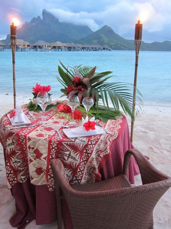 Four Seasons Resort Bora Bora : Ultimate Romantic Dinner