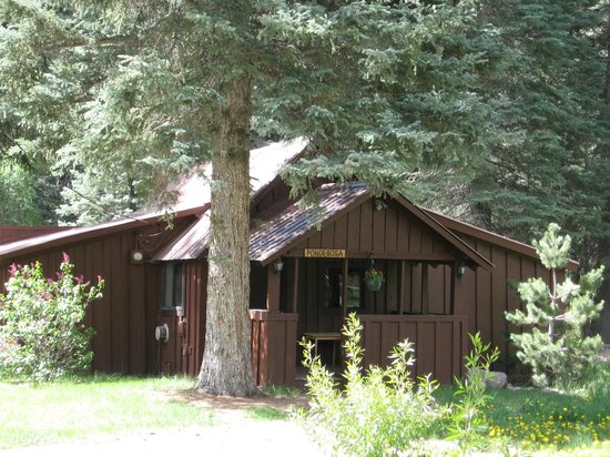Ponderosa view of cabin front picture of o bar o for Cabins to stay in durango colorado