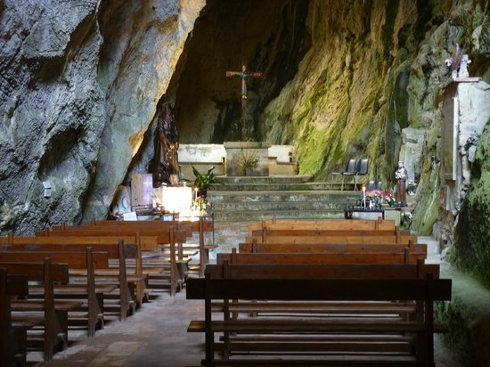 Pyrenees-Orientales, France: The chapel in the rock.