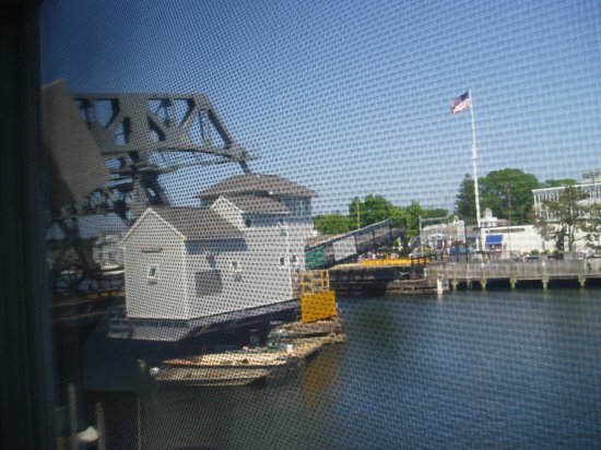 Steamboat Inn: drawbridge from room window