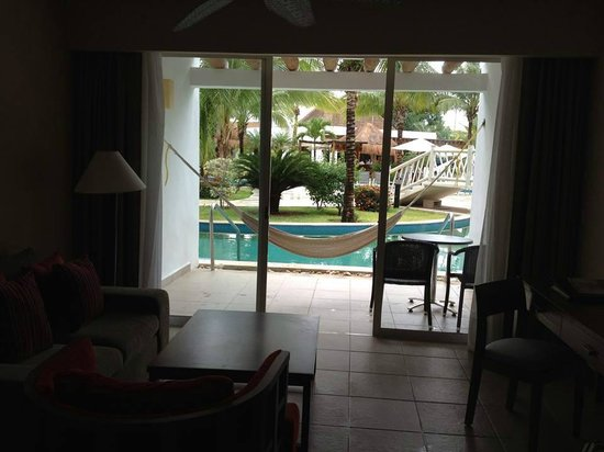 Secrets Aura Cozumel: view from inside our room out!
