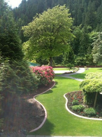 "Harrison Hot Springs Resort & Spa: ""Garden View"" from our room on second floor of West Wing"