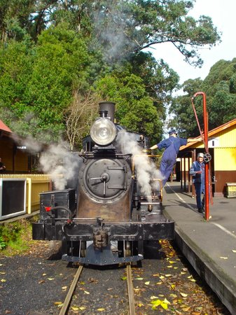 ‪‪Belgrave‬, أستراليا: Puffing Billy engine 8A at Lakeside, Emerald‬