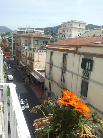 Sorrento Flats: View from mini balcony
